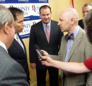 Senators Marco Rubio and Mike Lee meet with the press on Thursday morning.