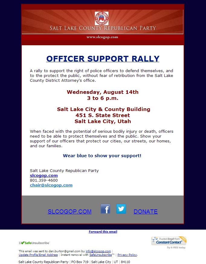 Rally to Support Law Enforcement